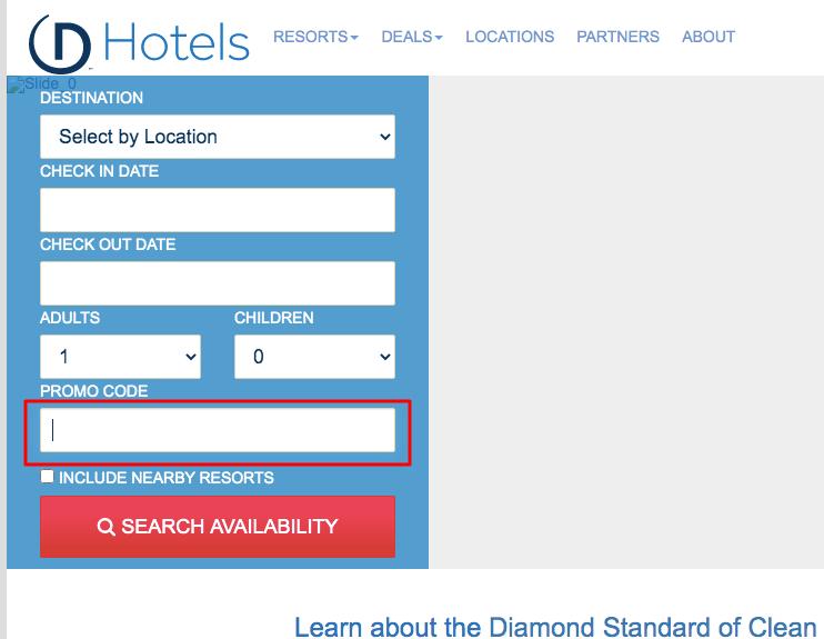 Use Diamond Resorts & Hotels Coupon Cod
