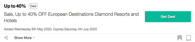 Get Diamond Resorts & Hotels coupon Code