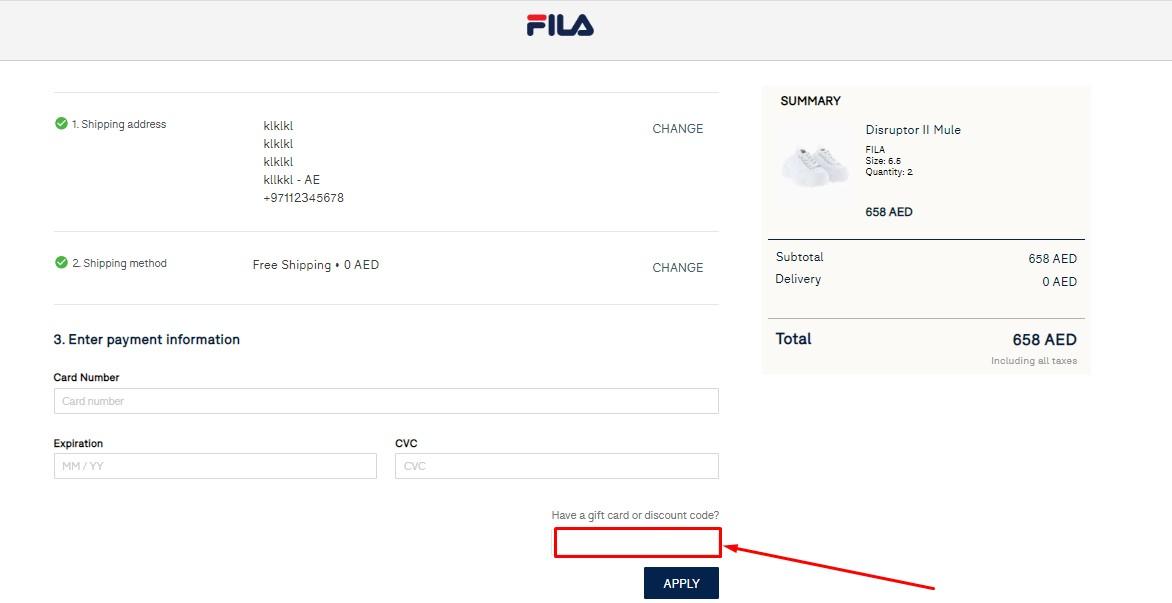Use Fila Discount Codes