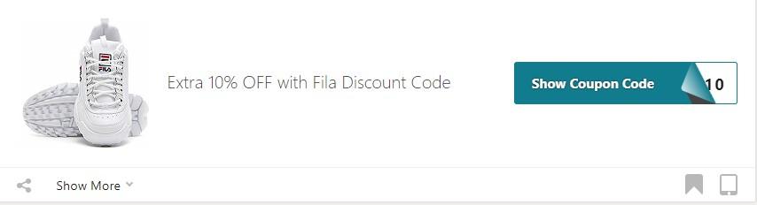 Get Fila Coupon Code