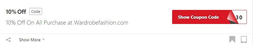 Get Wardrobe Fashion Coupon Code