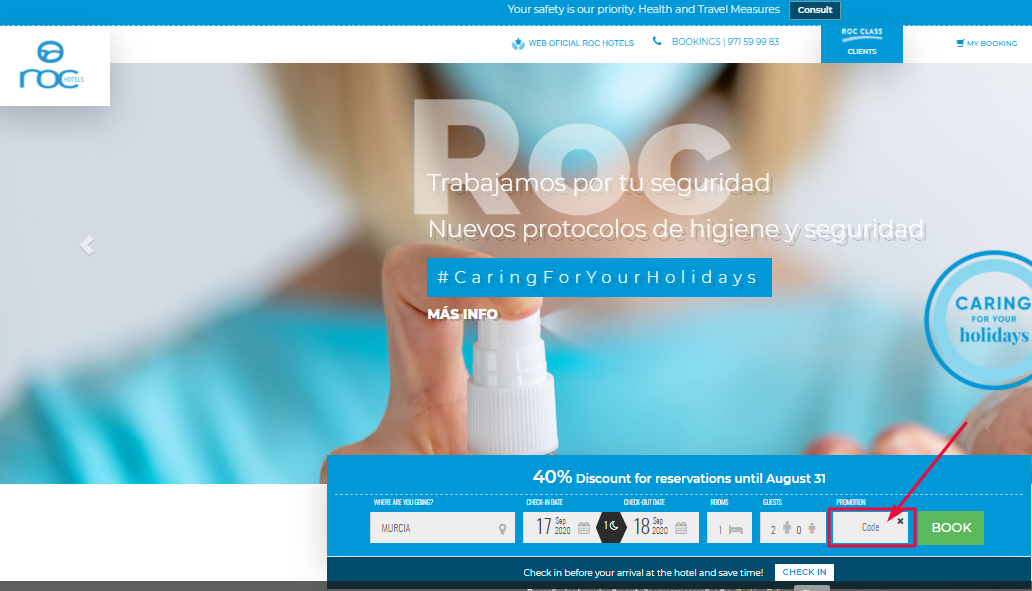 Use Roc Hotels Discount Code