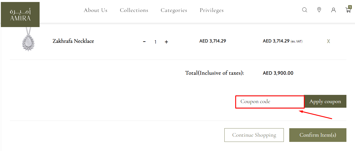 Use Amira Jewels Discount Code
