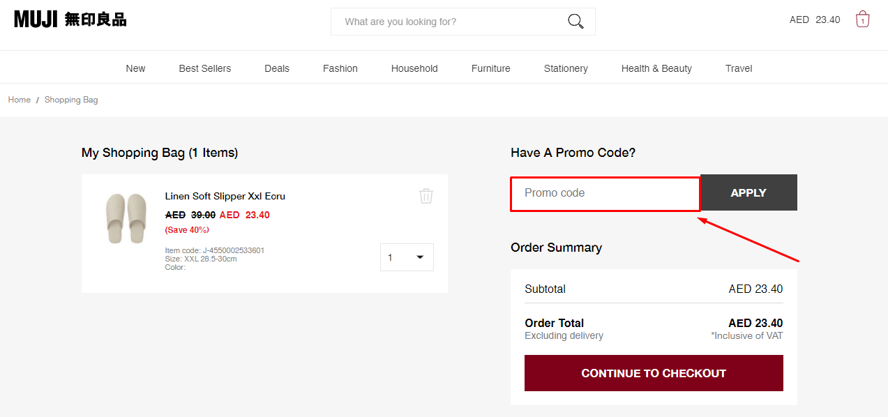 Copy Muji Discount Code