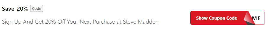 Get Steve Madden Coupon Codes