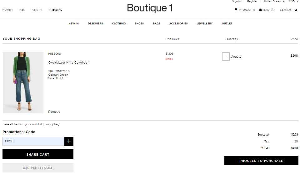 Use Boutique 1 Coupon Codes