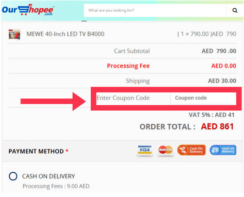 Use OurShopee Coupon Codes