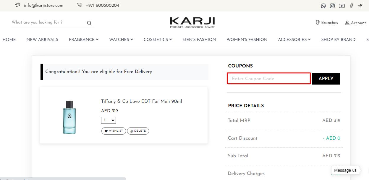 Use Karji Store Discount Code