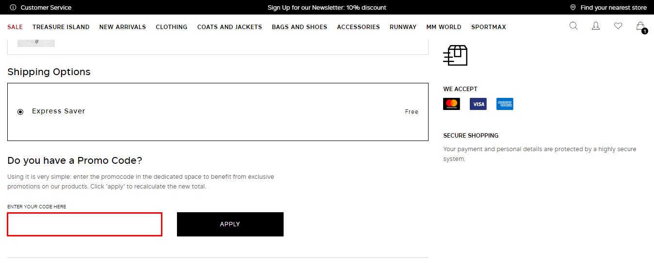 Use Maxmara UAE Discount Code