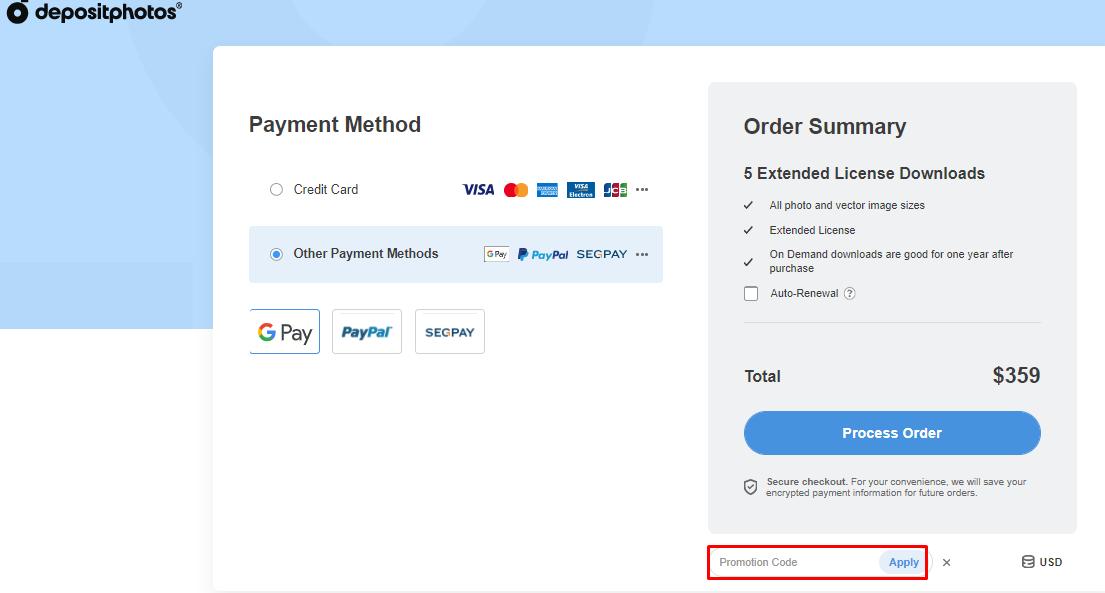 Use Deposit Photos Promotion Codes