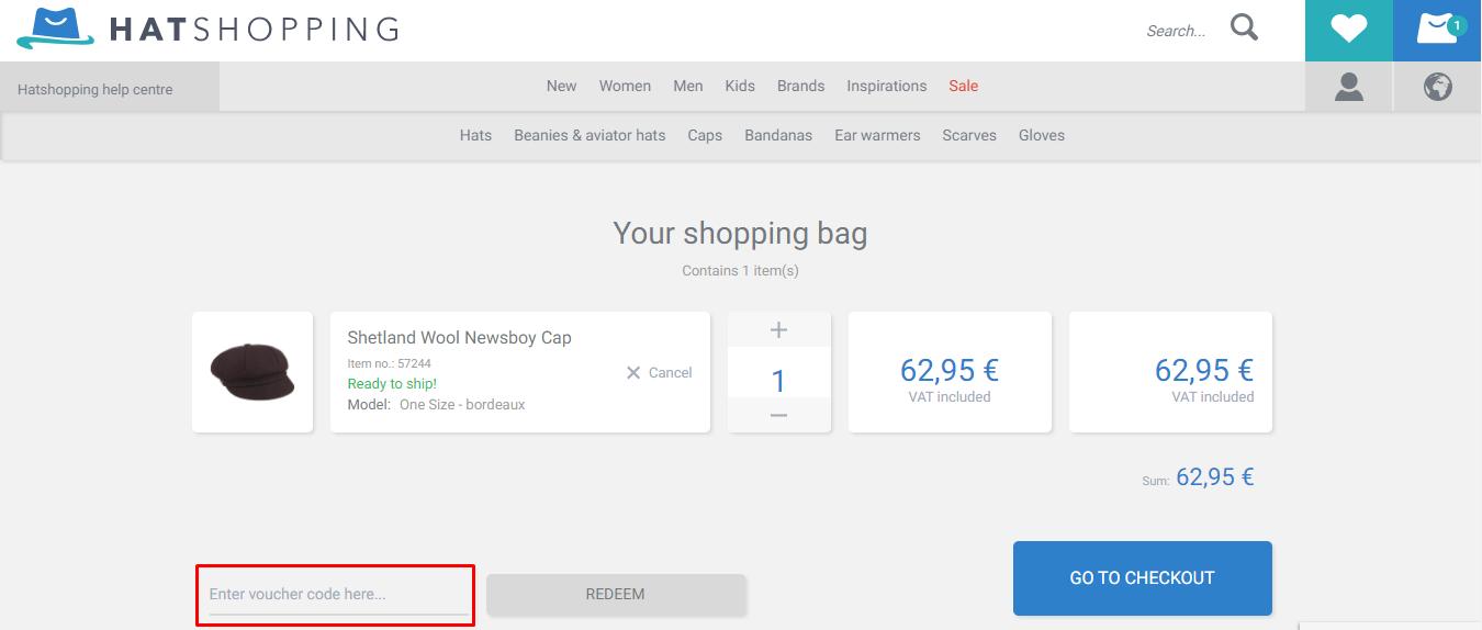 Use Hat Shopping Voucher Code