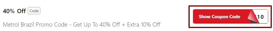 Metro Brazil Discount Code