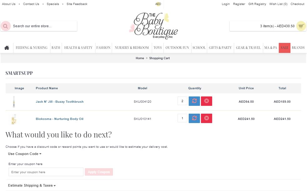 Use The Baby Boutique Coupon Code