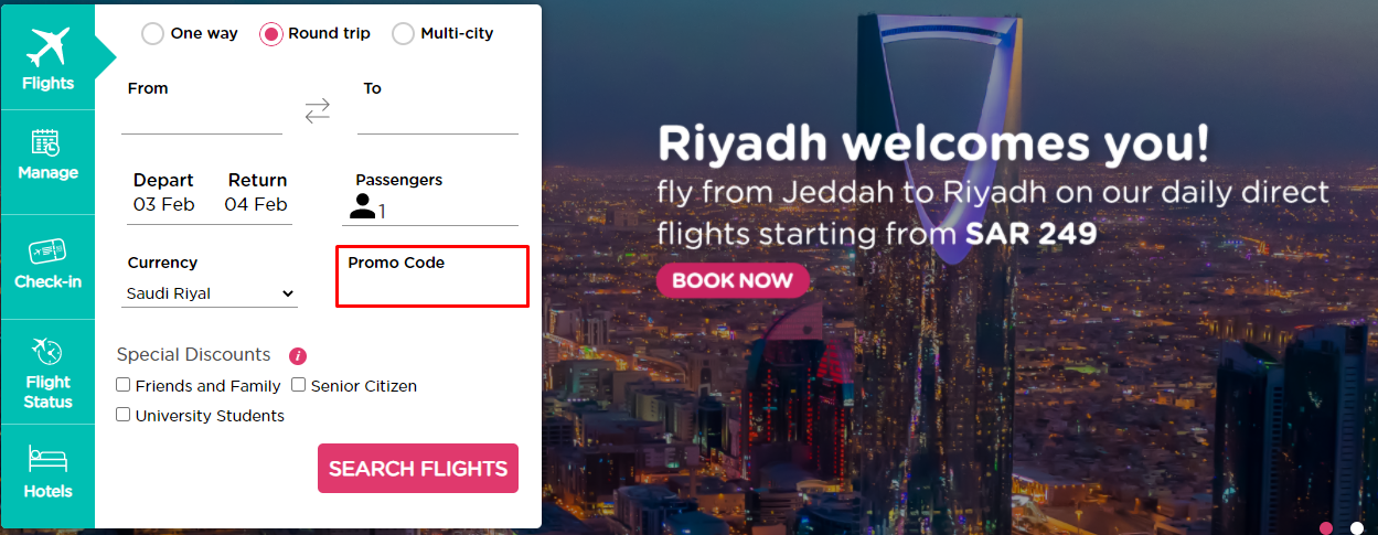 Use Flynas Coupon Code