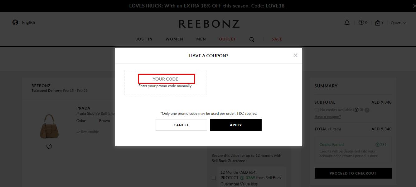Use Reebonz Discount Code