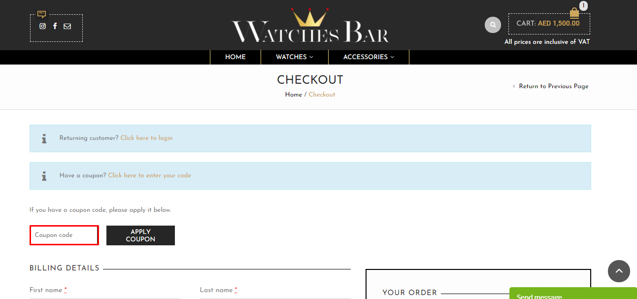 Use Watches Bar Discount Code