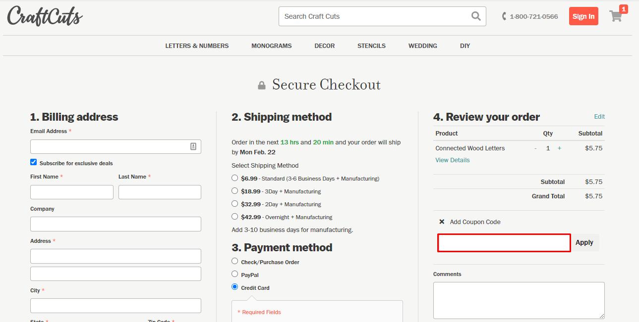 Use Craft Cuts Discount Code