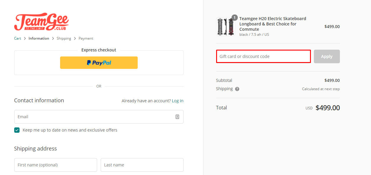 Use Teamgee Discount Code