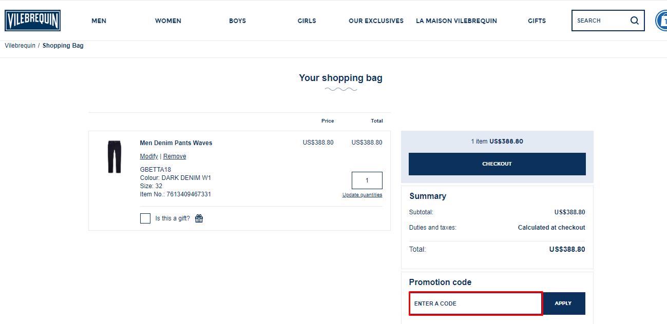 Use Vilebrequin Discount Code