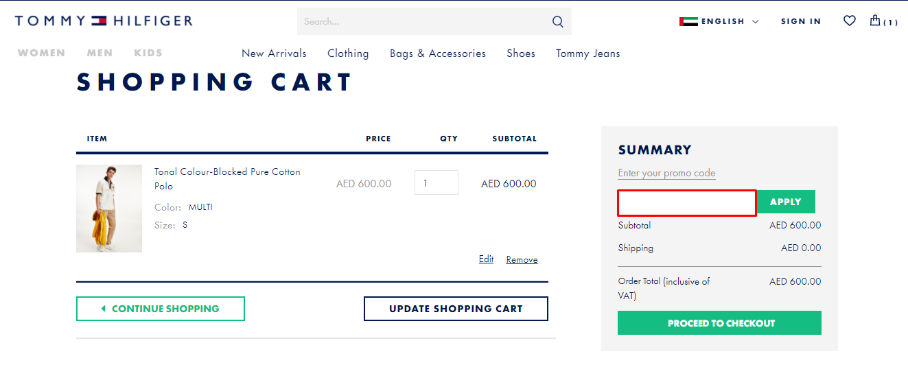 Use Tommy Hilfiger Coupon Code