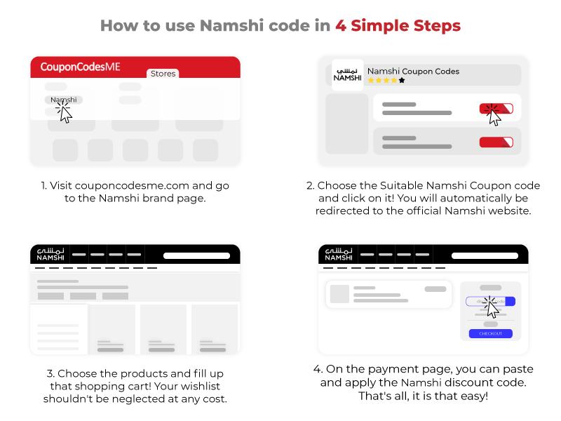 How to use namshi coupon code