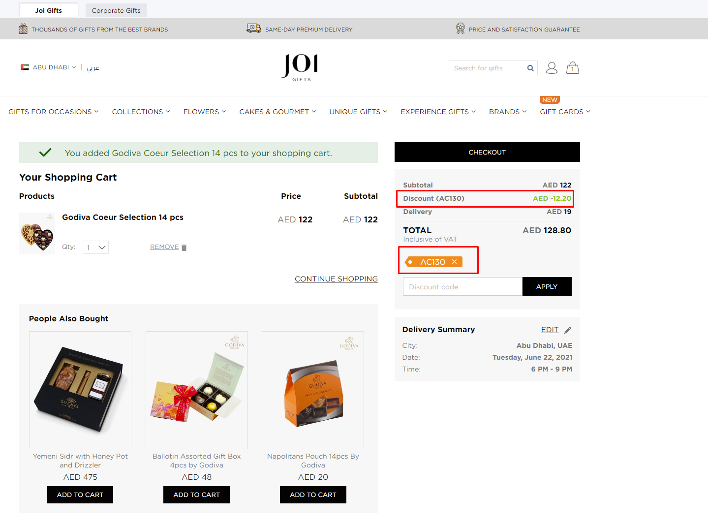 Use Joi Gifts Discount Code