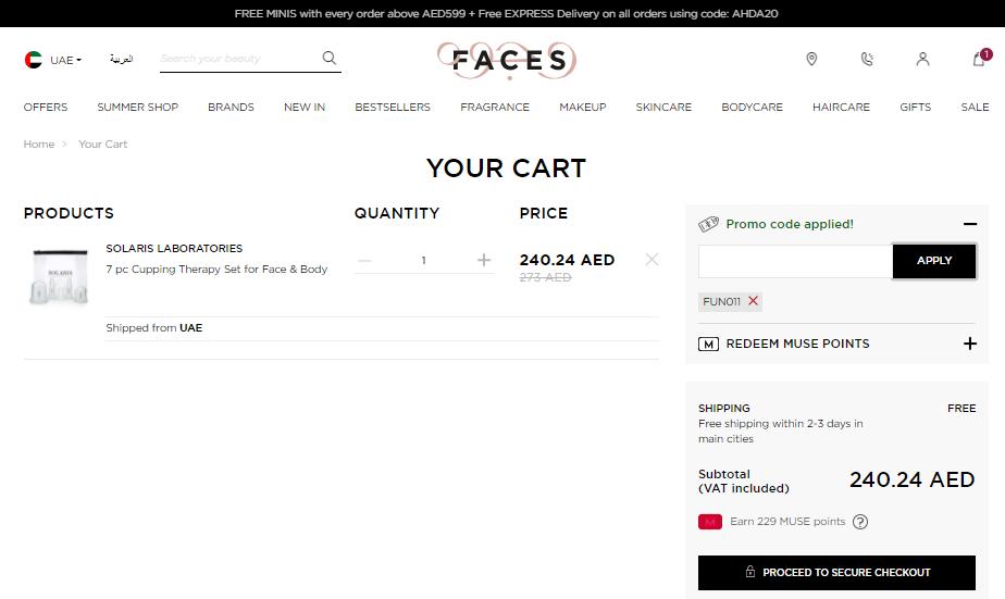 Faces Promo Code