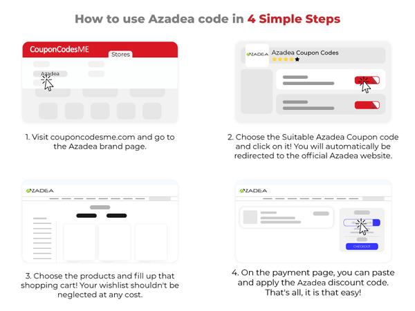 how to use azadea promo code