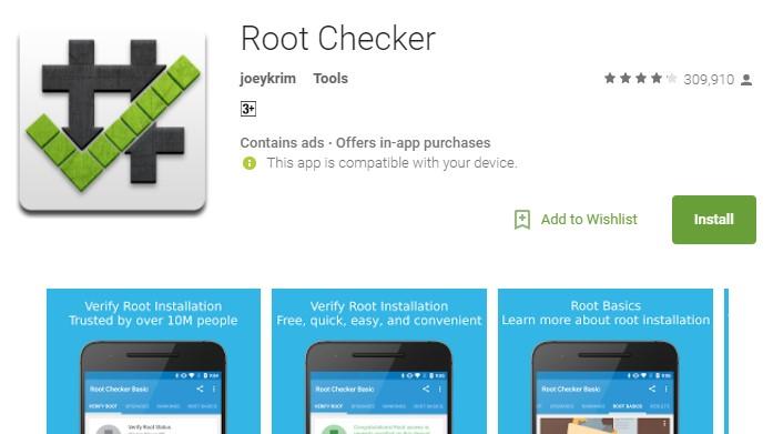 Aplikasi Android Root Checker