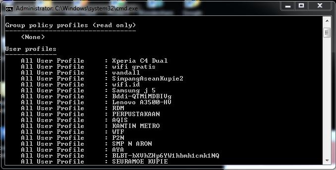 Mengetahui Password Wifi Dengan CMD