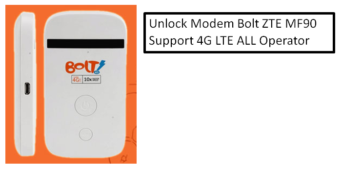 Cara Unlock Modem Bolt MF90