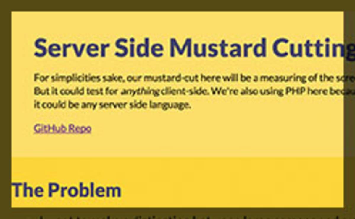 Thumbnail for #139: Explaining the Server Side Mustard Cut