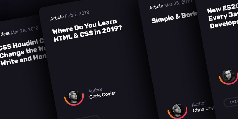Thumbnail for #171: Movable Stacked Card Row in CSS