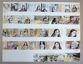 Story-board dessiné par Nadja de Mystère Alexina de René Féret