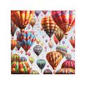 Bild Bunte Ballons, Handgemalt, Acryl auf Leinwand, ca. 80 x 80 cm Vorderansicht