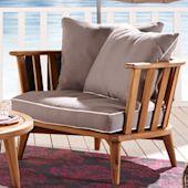 Loungestuhl Barcelona, mit Polster, Holz, Textil Katalogbild