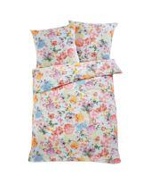 Bettwäscheset, 4-tlg, Flowers, Ökotex, Reißverschluss, Baumwoll-Renforcé Vorderansicht