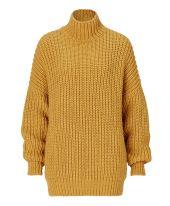 Pullover, Stehkragen, oversized, Grobstrick Vorderansicht