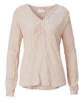 Bluse, Musterprint, gerade geschnitten, Business, Chiffon-Crêpe Vorderansicht