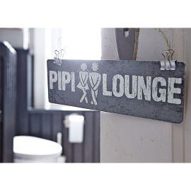 Schild, Pipi Lounge, 8x25 cm, mit A...
