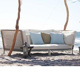 Outdoor-Sofa, inkl.Kissen, Kunststo...