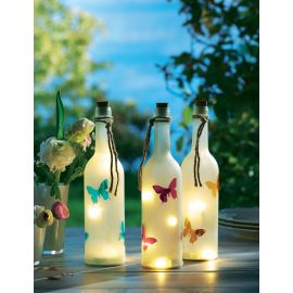 LED Flasche Schmetterling, beleucht...