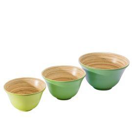 Schalen-Set, 3-tlg. Green Bamboo, 3...