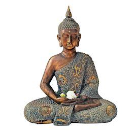 Dekofigur Silent Buddha, Kunststein