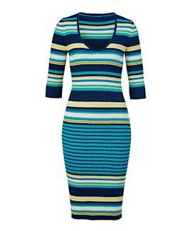 CONLEYS BLUE - Kleid, Rippstrick, f...