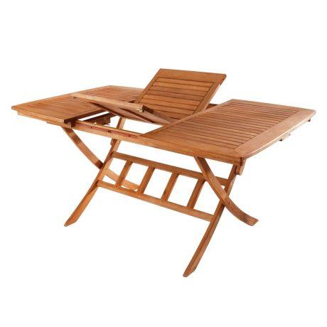 Gartentisch holz ausziehbar  Gartentisch Abby, Ausziehbarer Klapptisch, Holz, ca. B110 bis 160 ...