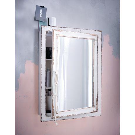 Spiegelschrank, Vintage Look, Tannenholz