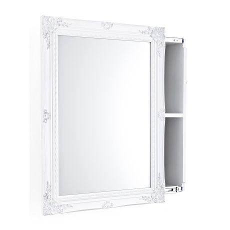 Spiegelschrank, Schiebetür, zwei Innenfächer, Romantik-Look, MDF