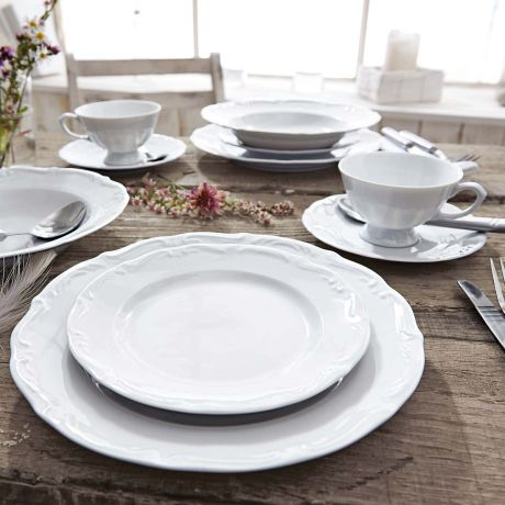 Geschirr Landhausstil tafelservice 12 tlg theresia spülmaschinen und