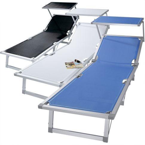 sonnenliege sonnendach aluminium textilenbezug. Black Bedroom Furniture Sets. Home Design Ideas